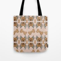 yorkie Tote Bags featuring New Yorkie by Brianna Heyer