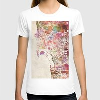 san diego T-shirts featuring San Diego by MapMapMaps.Watercolors