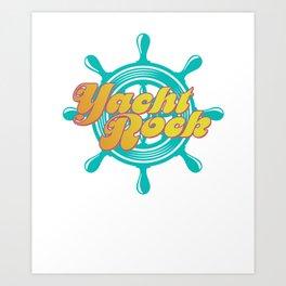 Party Boat Drinking print Yacht Rock Captain's Wheel Art Print