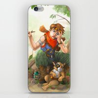 camp iPhone & iPod Skins featuring camp by Fargon