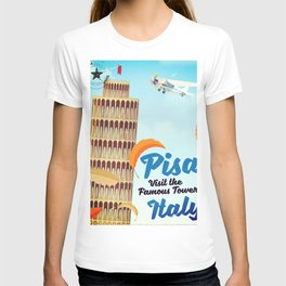 Pisa Italian vacation poster T-shirt