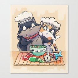 Little Chefs Canvas Print