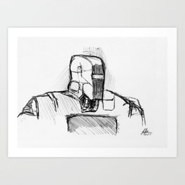 Warbot Sketch #014 Art Print