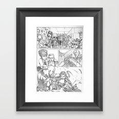 delay Framed Art Print