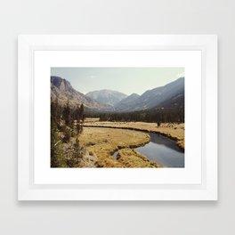 Rocky Mountain Meadow Framed Art Print