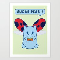 catbug Art Prints featuring Sugar Peas~! by silver sandwich
