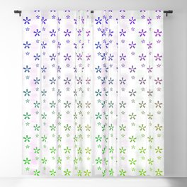Ombre asterisk star large snowflakes Blackout Curtain