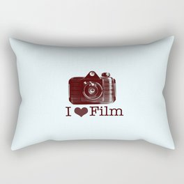 I ♥ Film (Maroon/Aqua) Rectangular Pillow