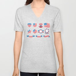 Proud To Be American National Presidents Day Unisex V-Neck