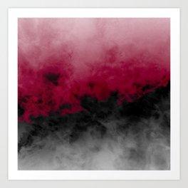 Zero Visibility Crimson Art Print