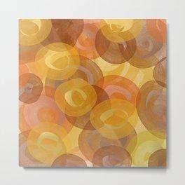 Autumn Swirls Metal Print