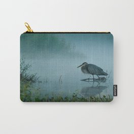 Blue Heron Misty Morning Carry-All Pouch