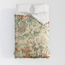 Wildflowers and Roses // Fleurs III by Adolphe Millot XL 19th Century Science Textbook Artwork Comforters
