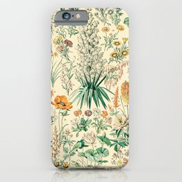Floral Diagram // Fleurs IV by Adolphe Millot XL 19th Century French Science Textbook Artwork iPhone Case