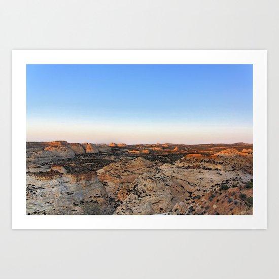 Utah Canyonland Art Print