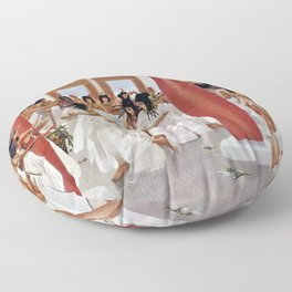 """Classical Masterpiece """"The Court of Pharaoh and the High Priestess"""" by H.M. Herget Floor Pillow"""