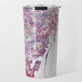 Barcelona map Travel Mug