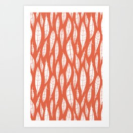 Quail Feathers (Poppy) Art Print