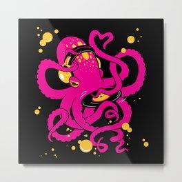 DJ Octopus Metal Print