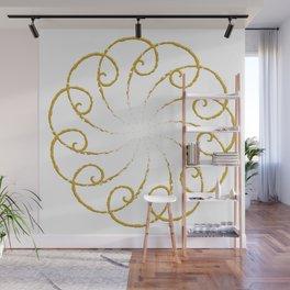 Golden Spiral Wall Mural