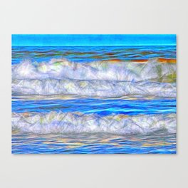 Abstract beautiful ocean waves Canvas Print