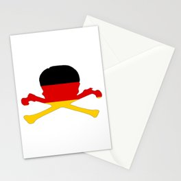 German Flag - Skull Stationery Cards