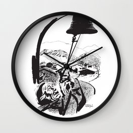 Gaucho Ringing the Bell by PPereyra Wall Clock