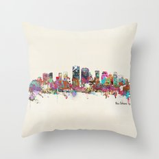 New Orleans Louisiana skyline Throw Pillow