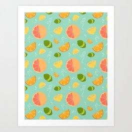 Les Agrumes (Citrus) Pattern Art Print