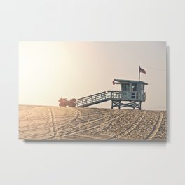 Los Angeles Lifeguard Tower Bruno Mars Billionaire Metal Print