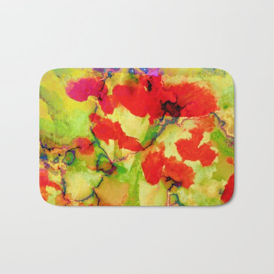 floral and textures Bath Mat