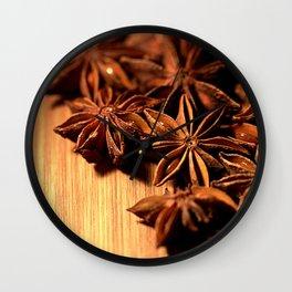 Star Anise Wall Clock