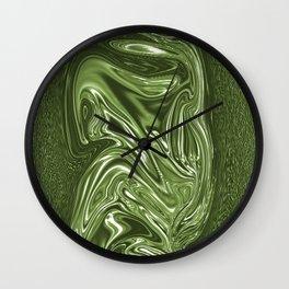 Curvaceous 4 ......flowing liquid color....original art Wall Clock