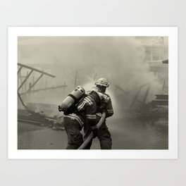 Fire Fighters Art Print