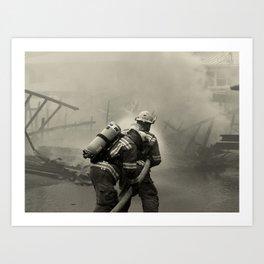 Fire Fighters Art Print