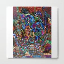 Psychedelic Buddha Metal Print