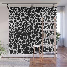 Animal Print Cheetah Black and White Pattern #4 2019 Wall Mural