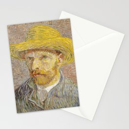 Self-Portrait with Straw Hat Stationery Cards