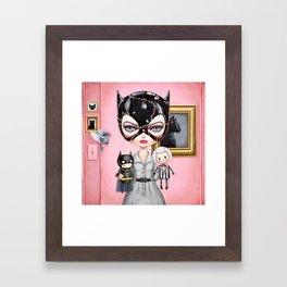 Catwoman - Playtime For Kitty Framed Art Print