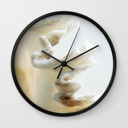 White Shell Wave Wall Clock