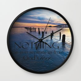 Nothing Can Separate Us Wall Clock