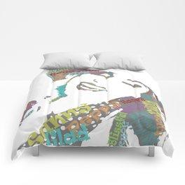 Happy woman II Comforters