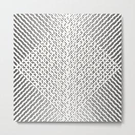 Stripes In Black & White Metal Print