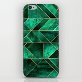 Abstract Nature - Emerald Green iPhone Skin