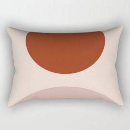 Clay terra cota abstract art Rectangular Pillow