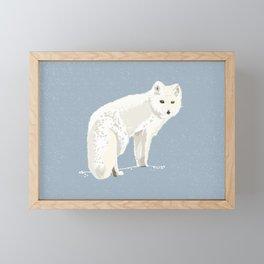 Save the Arctic fox Framed Mini Art Print