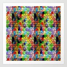 Stained Glass Abstract Digital Art Art Print