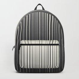 Soft Industrial Cream and Black Blended Random Vertical Lines Backpack