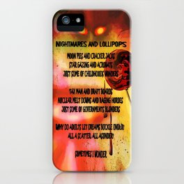 NIGHTMARES AND LOLLIPOPS - 114 iPhone Case