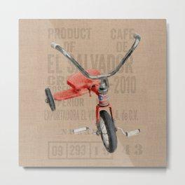 Red Tricycle Metal Print